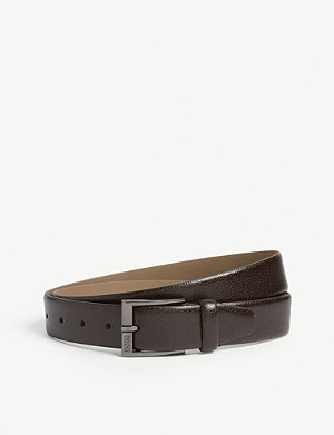 BOSS Grained leather belt