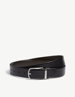 BOSS Reversible two-tone leather belt