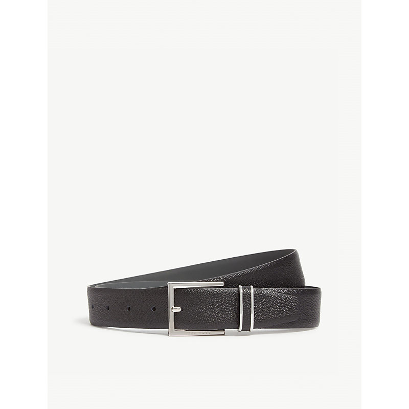 HUGO BOSS | Grained Leather Belt | Goxip