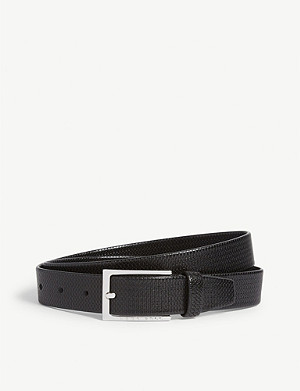 BOSS Cedy embossed leather belt