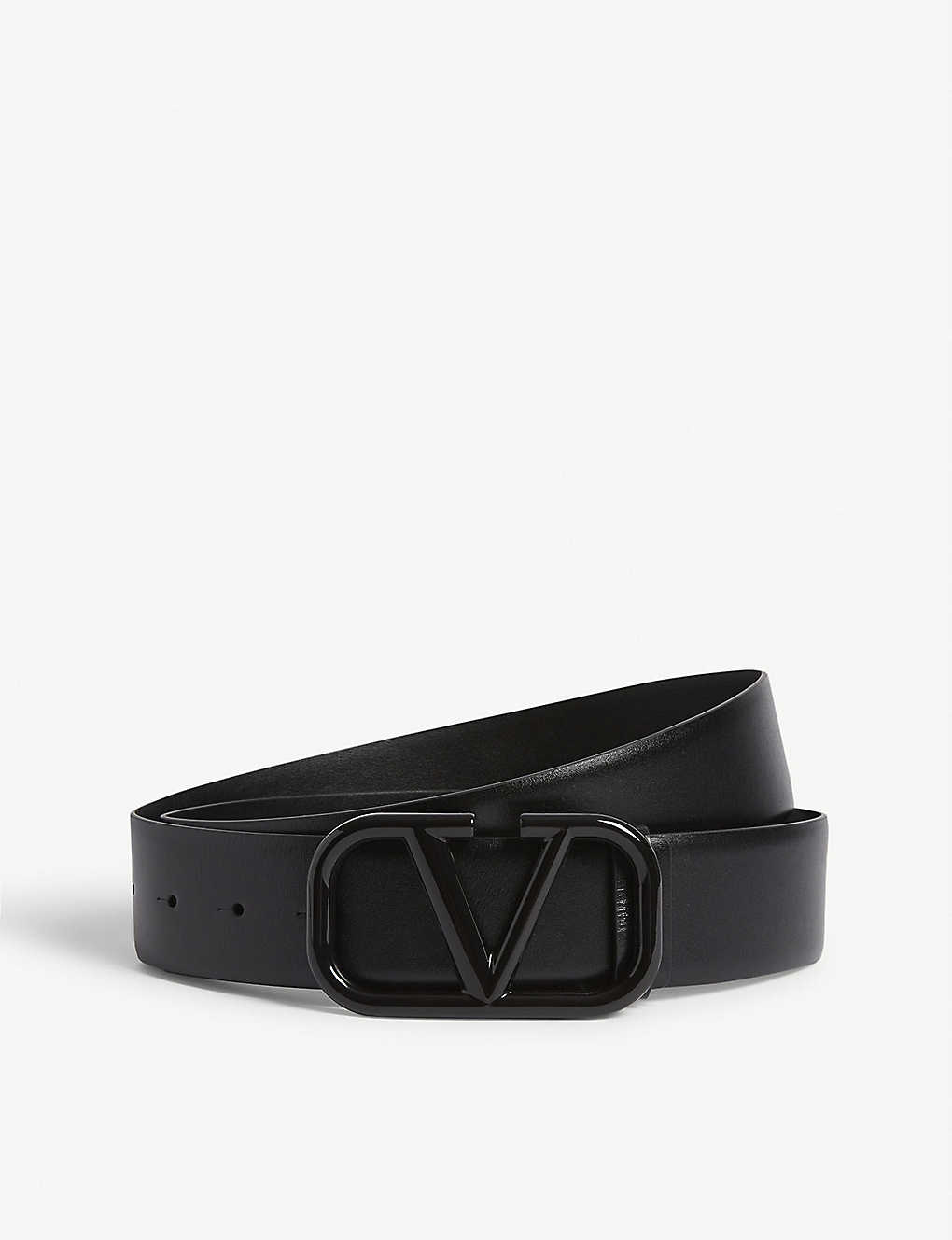 VALENTINO GARAVANI: Lacqured Vring leather belt