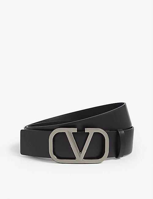 VALENTINO GARAVANI: Go logo leather belt
