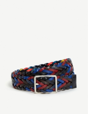 PAUL SMITH ACCESSORIES Reversible plaited leather belt