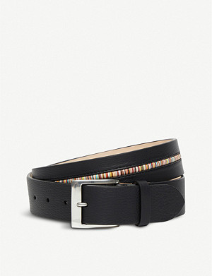 PAUL SMITH ACCESSORIES Centre stripe leather belt