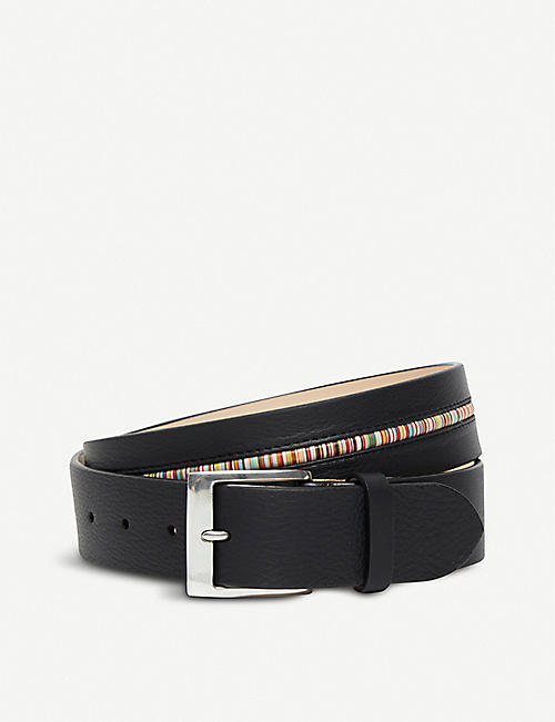 PAUL SMITH ACCESSORIES: Centre stripe leather belt