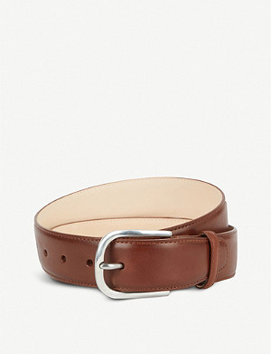 PAUL SMITH ACCESSORIES Vegetable-tanned leather belt