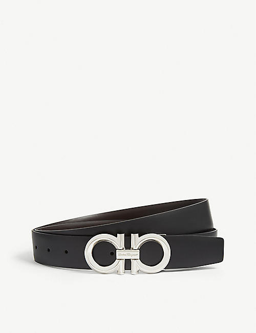 27c683ffc5a SALVATORE FERRAGAMO Gancini buckle reversible leather belt