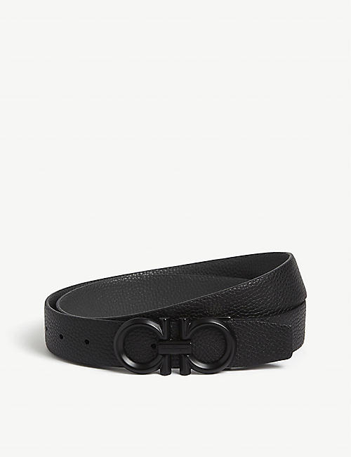 9447c15c2b1ff2 SALVATORE FERRAGAMO Gancini buckle reversible leather belt