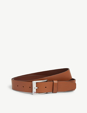 TOMMY HILFIGER Logo buckle leather belt