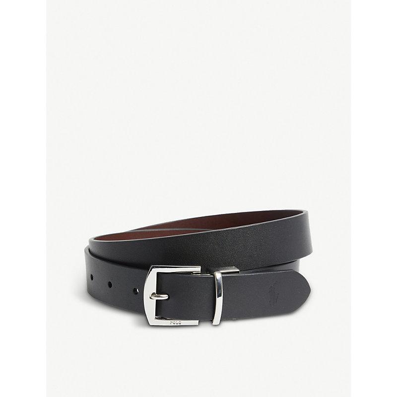 Polo Ralph Lauren Leather Belt In Black Brown