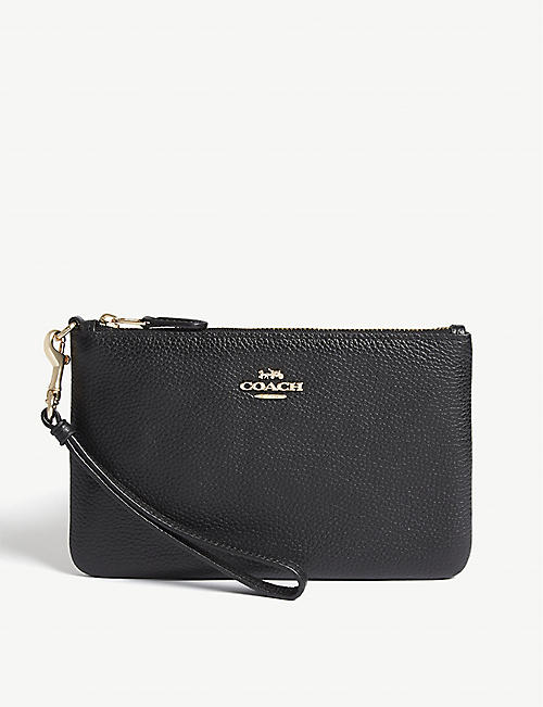 COACH Small leather wristlet