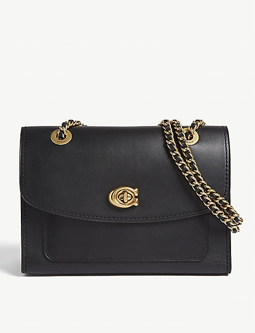 5941c3d2b COACH Parker leather shoulder bag