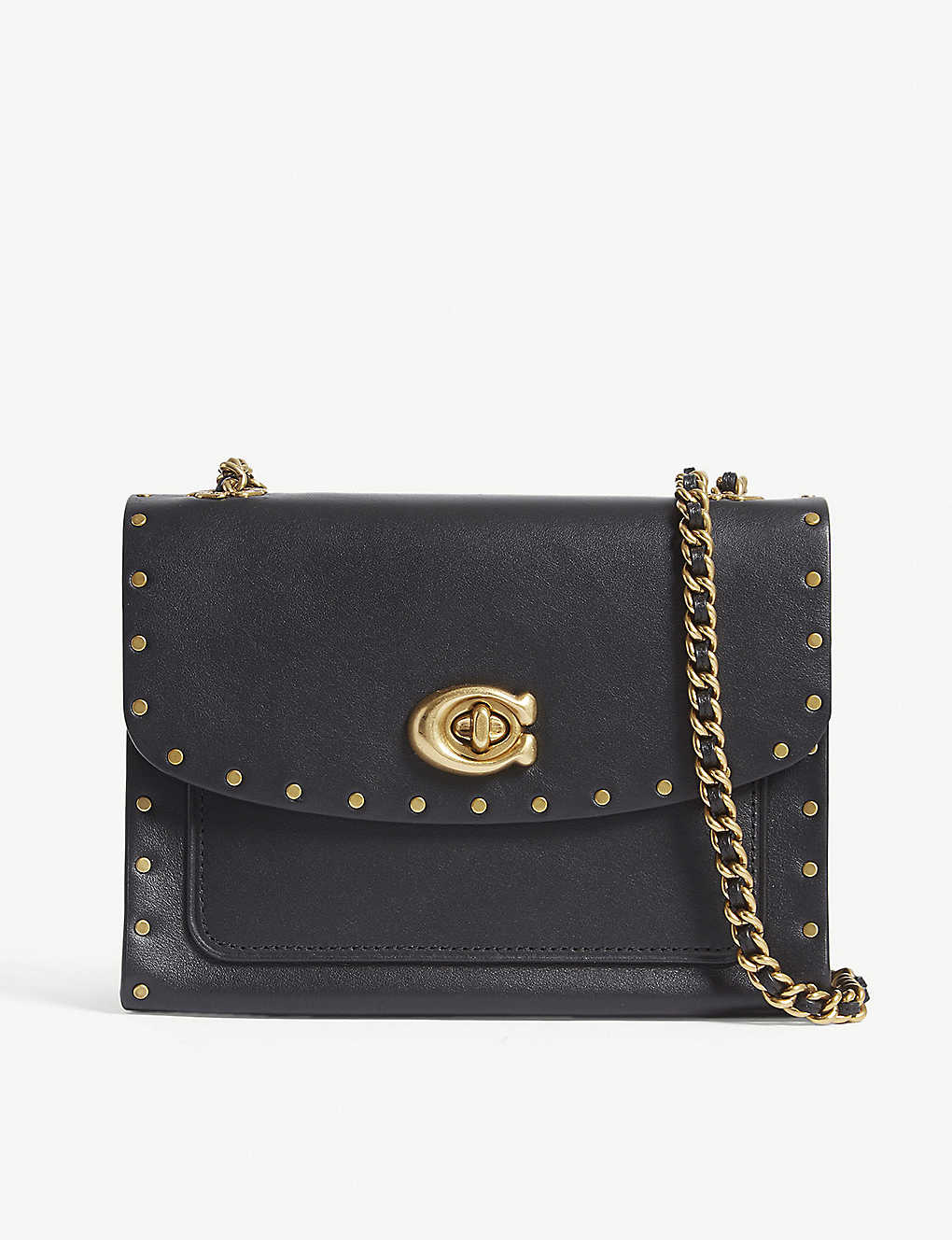 246f98afc COACH - Parker rivet leather shoulder bag | Selfridges.com