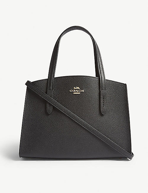 COACH: Charlie small grained leather shoulder bag