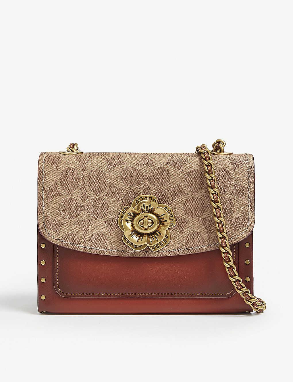 a72d0a2d520 COACH - Parker leather shoulder bag | Selfridges.com