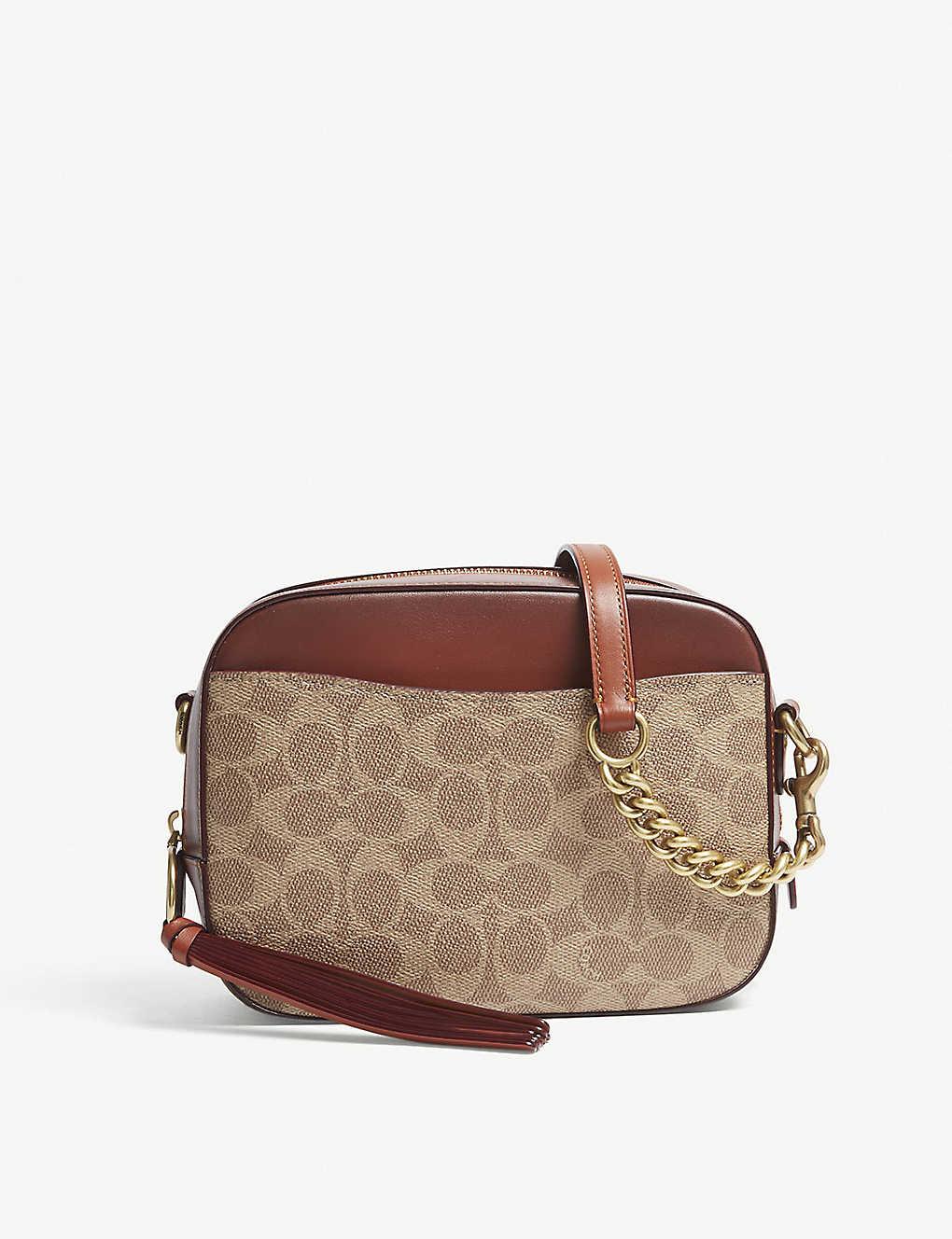 64e57e5be COACH - Signature leather camera cross-body bag   Selfridges.com