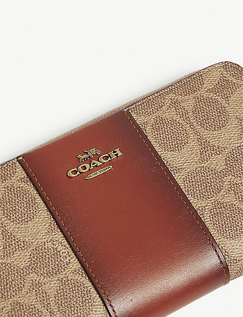 COACH Leather accordion wallet