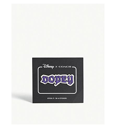 a72d17c689ab COACH - Dark Disney Dopey leather sticker