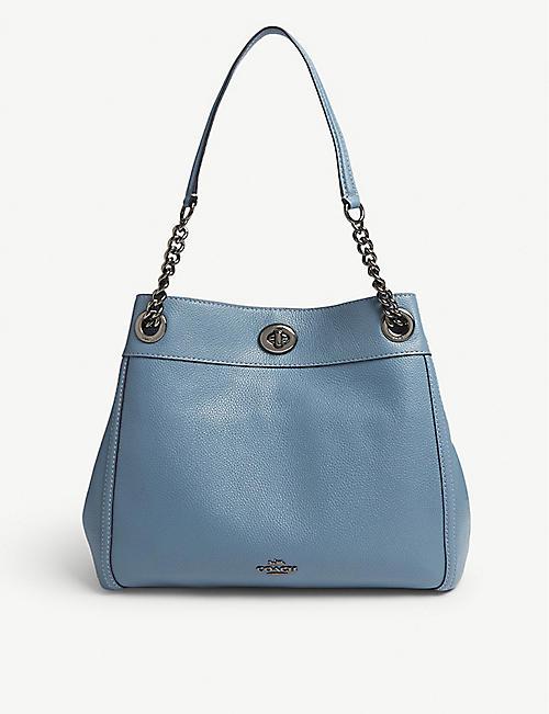 8e200daa5745c COACH Edie leather shoulder bag