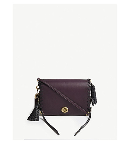 ... COACH Dinky 19 oversized charms leather cross-body bag (B4 plum+multi.  PreviousNext 3533f3a291a2c
