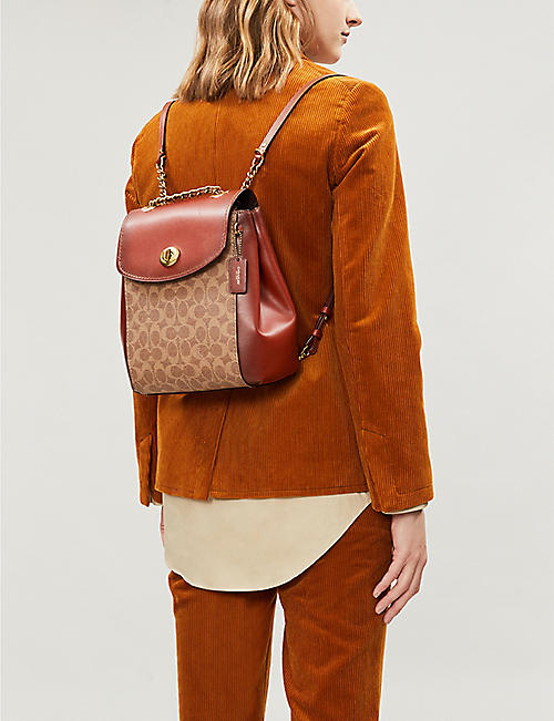 COACH Parker leather backpack