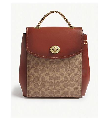 COACH - Parker leather backpack  75b0f4e394e3b