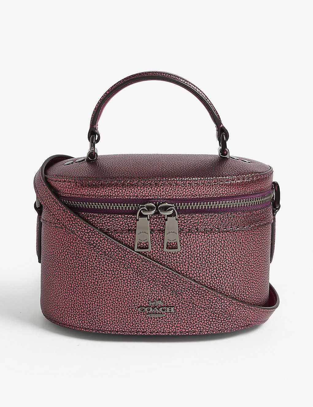 db25f5b46 COACH - Trail metallic leather cross-body bag | Selfridges.com