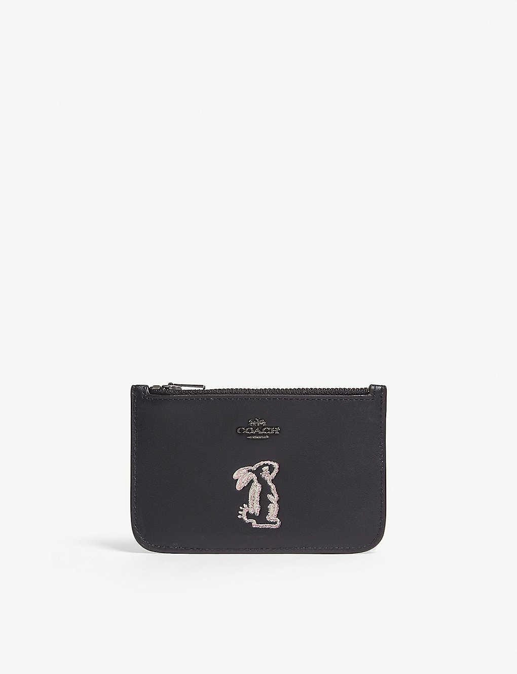 a1147c673f COACH - Coach x Selena zip card case with bunny | Selfridges.com
