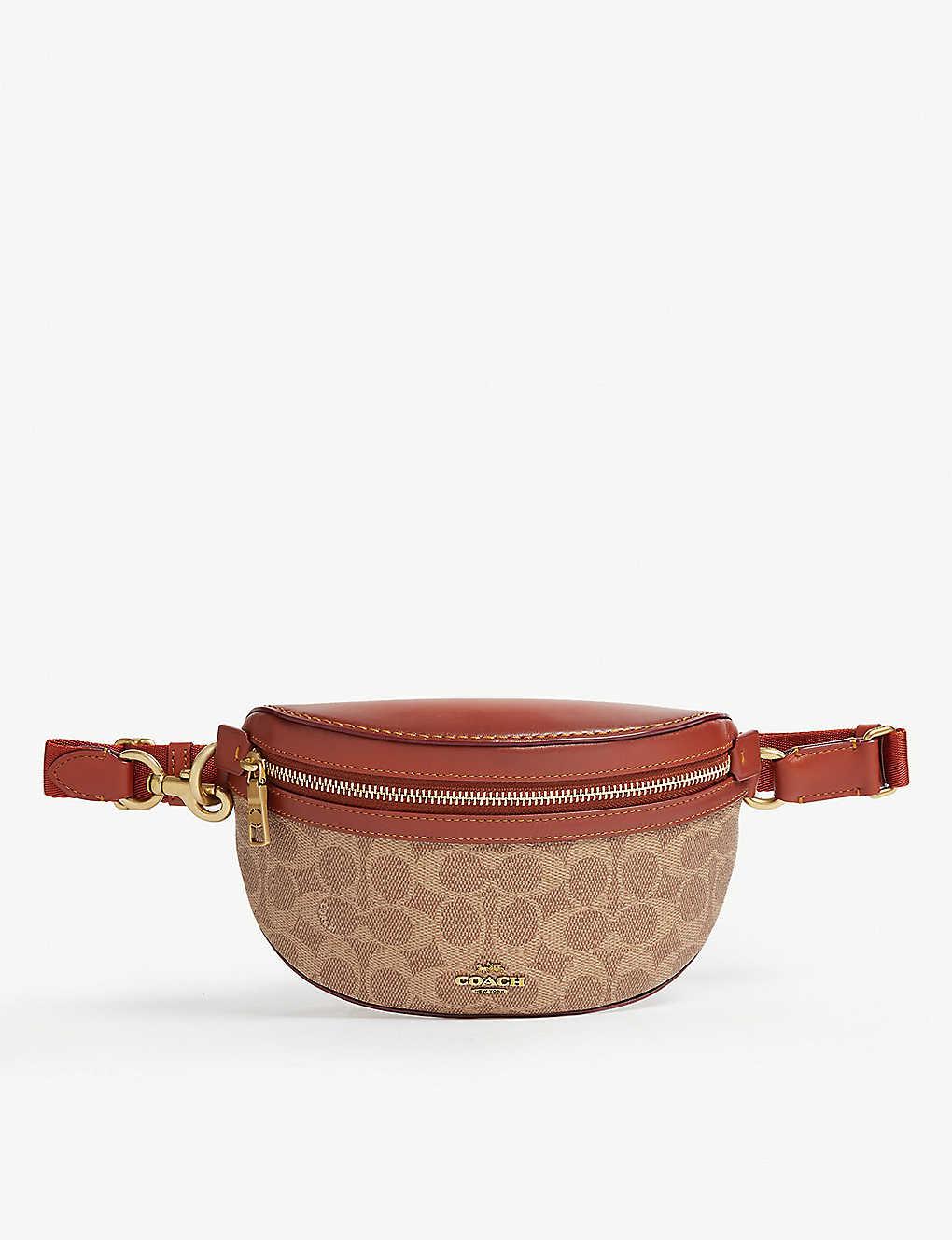 866550a132a280 COACH - Signature canvas leather beltbag | Selfridges.com