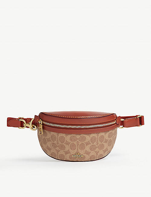 862c5206b2 COACH Signature canvas leather beltbag