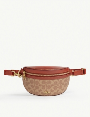 COACH Signature canvas leather beltbag