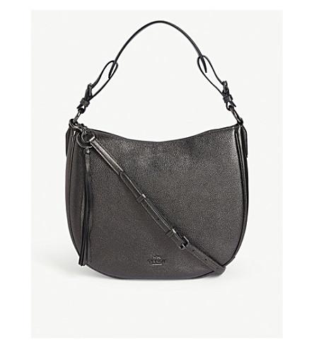 b454115b76 ... cheapest coach sutton leather shoulder bag gm metallicgraphite 36030  eb323