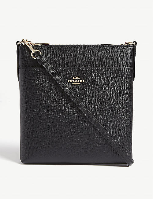 COACH: Grained leather messenger bag