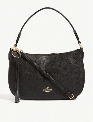 COACH Sutton pebbled leather cross-body bag