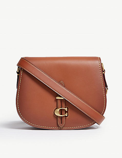 be5af3e8559a COACH Leather saddle bag