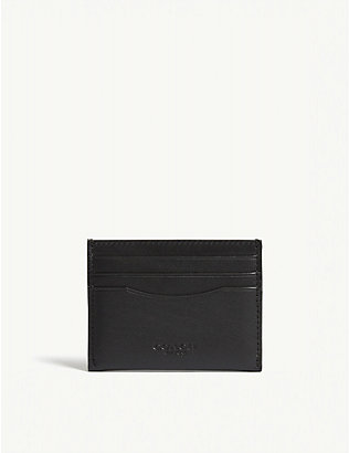 COACH: Leather card holder