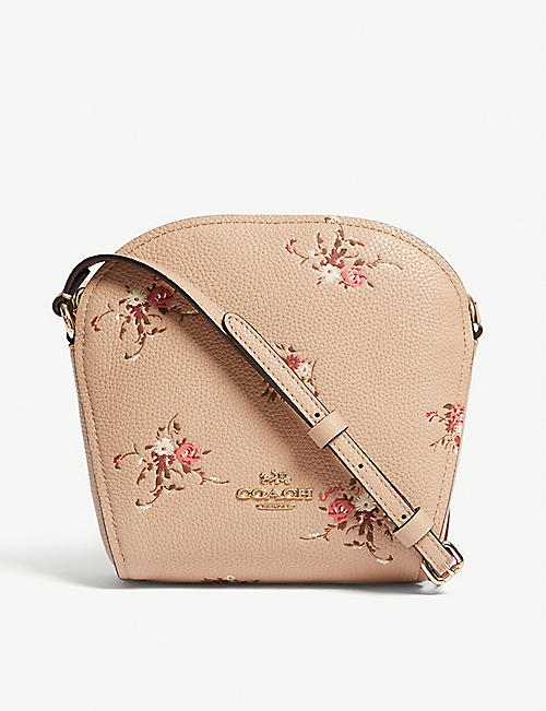 17b10685eed7 COACH Farrow floral leather cross-body bag