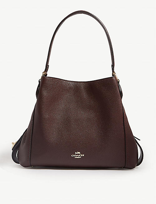 c961e94d790a7 COACH Edie leather shoulder bag
