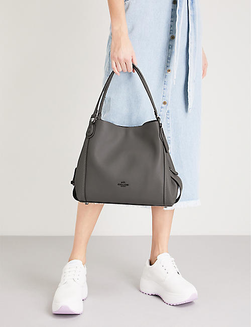 COACH Edie 31 leather shoulder bag