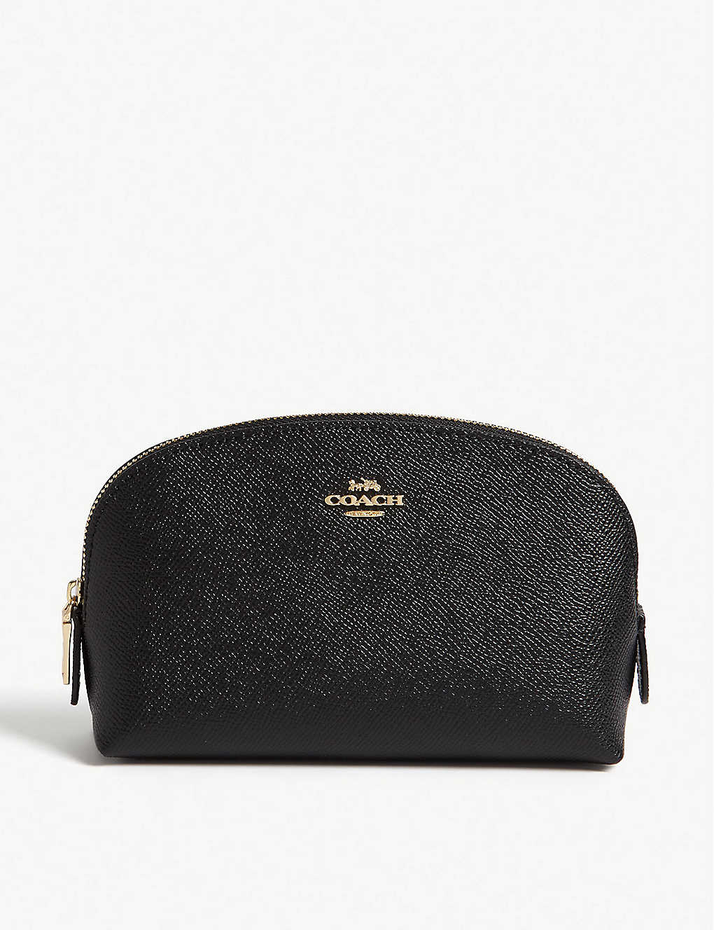 COACH: Grained leather cosmetics case