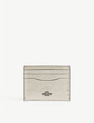 COACH Metallic leather card holder