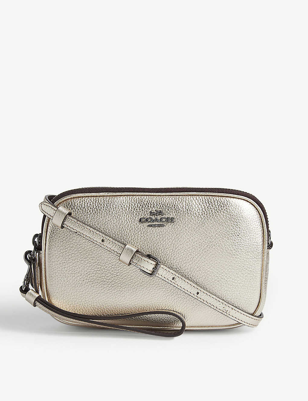 e9eb1b7b4e COACH - Metallic leather cross-body bag   Selfridges.com