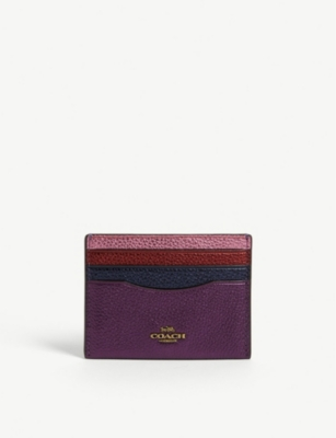 COACH Leather cardholder