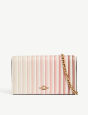 COACH Callie quilted leather clutch