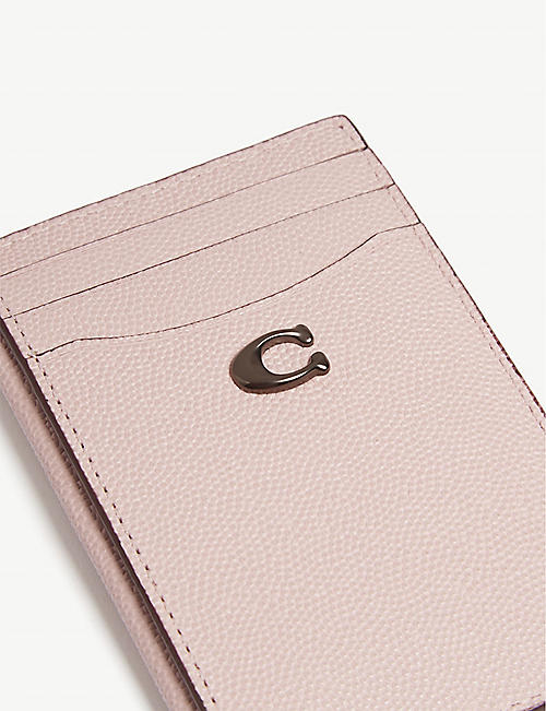 COACH Pebbled leather card holder