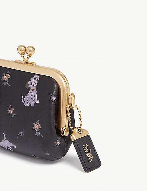 COACH 101 Dalmatians leather coin purse