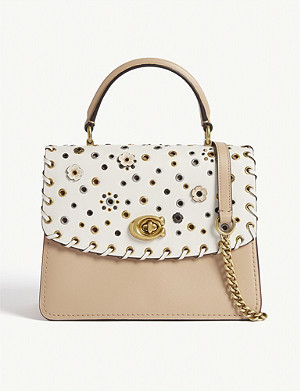 COACH Parker top handle leather shoulder bag