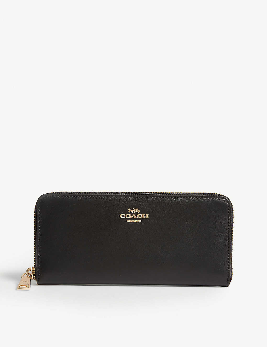 COACH: Leather zip-around wallet
