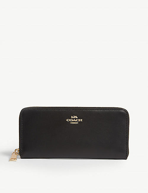 COACH Leather zip-around wallet