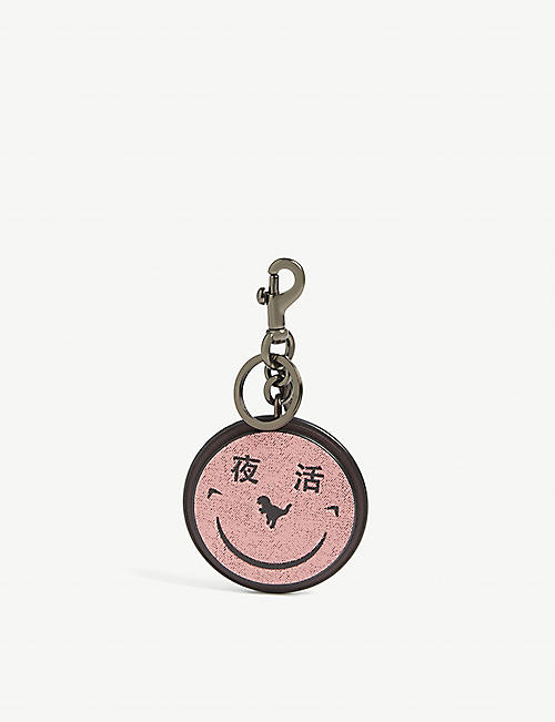 COACH Yeti Out leather bag charm and keyring